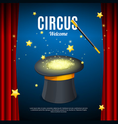 welcome to circus poster card template vector image