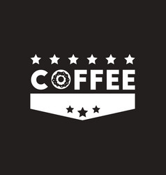 white icon on black background coffee vector image