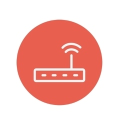 Wifi router modem thin line icon vector