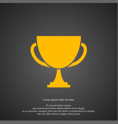 winner cup icon simple victory element champion vector image