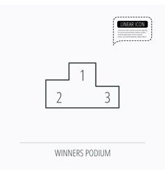 Winners podium icon Prize ceremony pedestal vector image