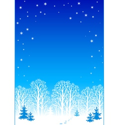 Winter night background eps8 vector