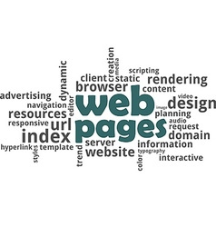 word cloud web pages vector image