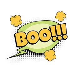 boo comic word vector image vector image