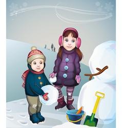 children on a walk vector image vector image