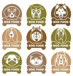 dog food labels set vector image