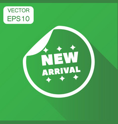 new arrival shopping icon business concept sale vector image