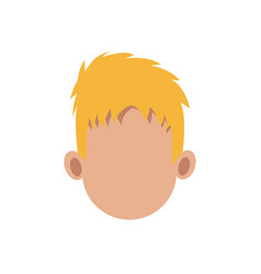 male head faceless hair style image vector image
