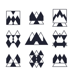 Set of geometric shapes Trendy icons and logotypes vector image