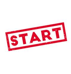 Start rubber stamp vector