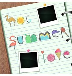 Summer Scrapbook vector image