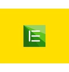 Abstract letter E logo design template vector image vector image