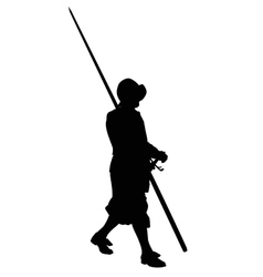 Ancient warrior marching with spear vector image vector image