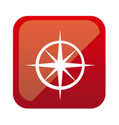 color square with compass icon vector image