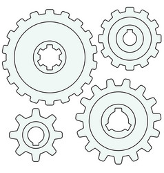gear wheel set vector image vector image