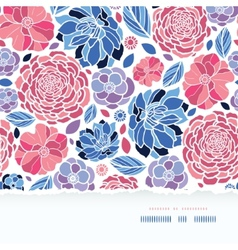 Summer flowers torn paper horizontal seamless vector image vector image