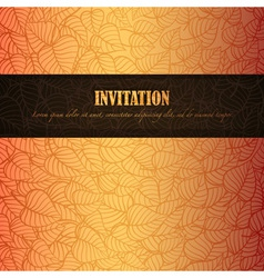 Autumn Invitation vector image vector image