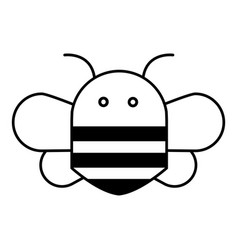 bee icon outline style vector image
