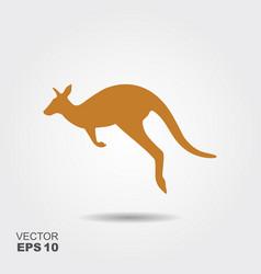 kangaroo icon simple flat symbol vector image