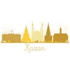 kazan city skyline golden silhouette vector image vector image