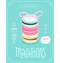 Macaroons Poster - template for your design vector image vector image