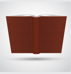 Open leather book vector