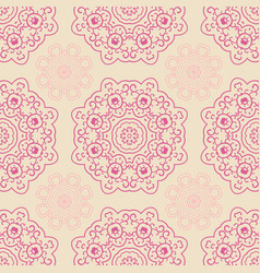 seamless doodle pattern ethnic ornament hand vector image vector image