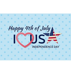 4th july background fourth july felicitation vector image