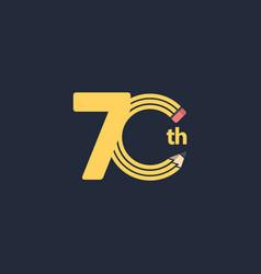 70 th anniversary celebration template design vector