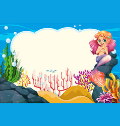 a mermaid underwater frame vector image