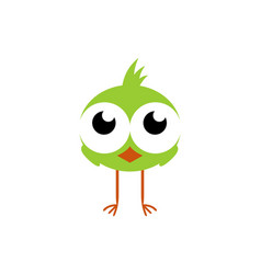 abstract cute chick logo icon vector image