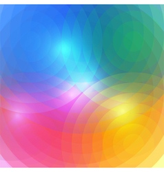 Abstract rainbow circles background vector