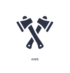 Axes icon on white background simple element from vector