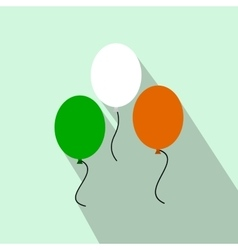 Balloons in irish colors flat icon vector