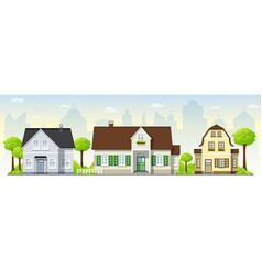 Beautiful country houses vector