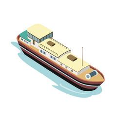 Big vessel in sea vector