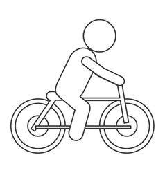 Bike riding pictogram icon vector
