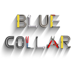 blue collar vector image