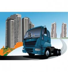 blue truck vector image