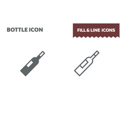 bottle icon fill and line flat design ui vector image
