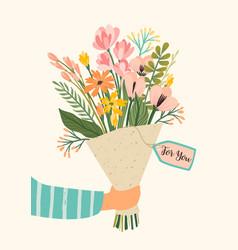 Bouquet flowers design vector
