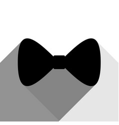 bow tie icon black icon with two flat vector image