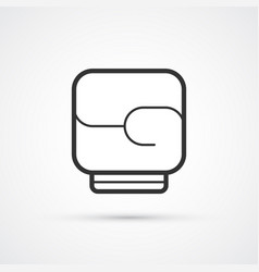 boxing black line glove icon eps10 vector image