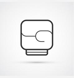 boxing black line glove icon eps10 vector image