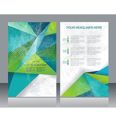 Brochure or Flyer design with abstract geometrical vector image