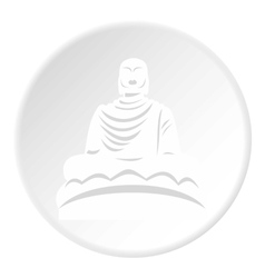 Buddha statue icon flat style vector image