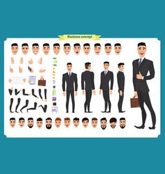 businessman in formal wear vector image