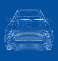 Car silhouettes rendering of 3d vector