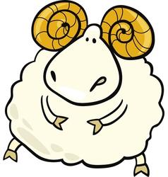 Cartoon aries zodiac sign vector
