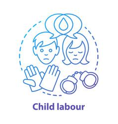 Child labour concept icon children exploitation vector